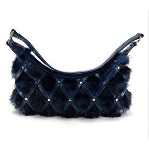 Matt & Nat Blue Vegan Shoulder Handbag Purse